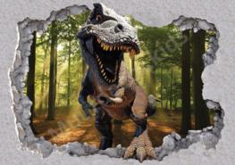 Dinosaurus T-Rex fotobehang 3D Bos