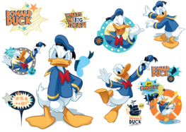 Donald Duck muurstickers L