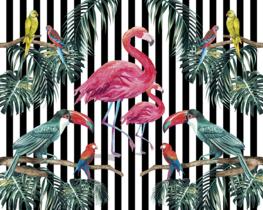 Flamingo behang Island Life
