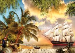 Fotobehang Piratenschip II