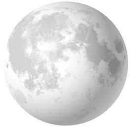 Maan vliesbehang XL