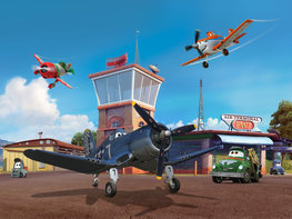 Disney Planes behang XL - VLIES