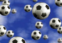 Voetbal fotobehang Blauw