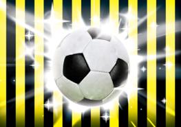 Voetbal fotobehang Geel Zwart