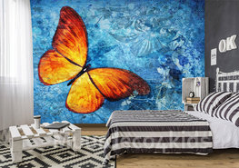 Vlinder fotobehang Vuurvlinder