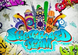 Graffiti behang Skateboard team