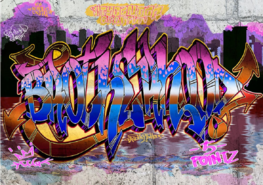 Graffiti behang Brotherhood