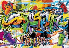 Graffiti vlies fotobehang Street Style XL