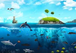 Onderwater fotobehang Waterland