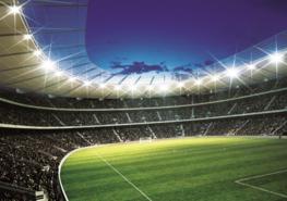 Voetbal behang Stadion 1 - Vlies XL