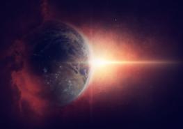 Aarde fotobehang Kosmos