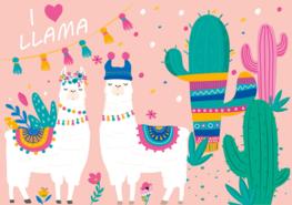 I love Llama vlies behang