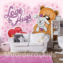 Teddy beer behang Love & Hugs
