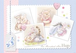 Winnie the Pooh behang pastel Hugs