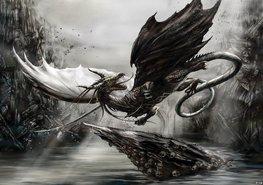 Alchemy fotobehang Zwarte Draak