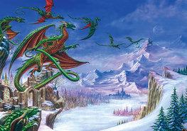 Alchemy fotobehang Draken
