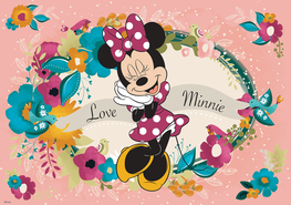 Minnie Mouse behang Love