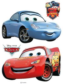 Cars muurstickers McQueen/Sally XL