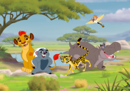 Lion Guard fotobehang XL