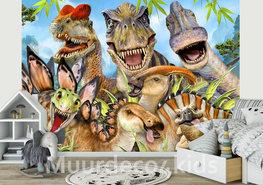 Selfie behang Dinosaurussen