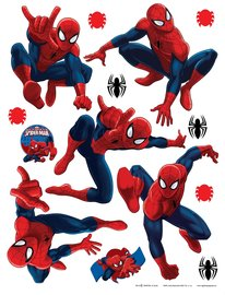 Spiderman muurstickers XL set