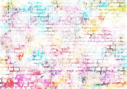 Stenen muur fotobehang lichte kleuren