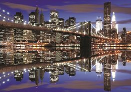 New York fotobehang Brooklyn Bridge