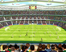 Voetbal stadion behang - WT