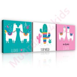 Llama Love canvas set