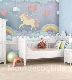 Unicorn dream behang kinderkamer L