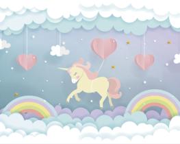 Unicorn Dream behang kinderkamer XL