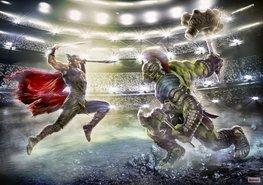Thor en Hulk fotobehang