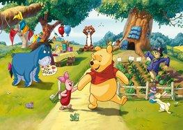 Winnie the Pooh fotobehang Feestje
