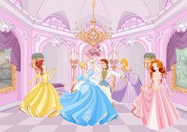 Prinsessen fotobehang Gala