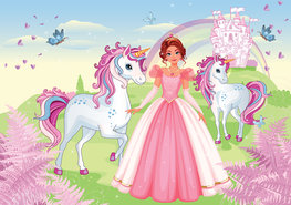 Princess fotobehang Unicorns