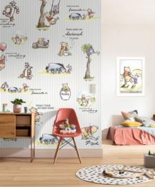 Winnie the Pooh fotobehang Stripes