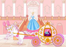 Prinsessen behang Koets