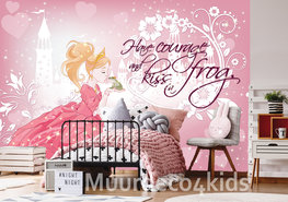 Prinses en kikker behang