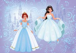 Prinsessen behang Blauw