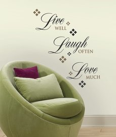 Tekst muurstickers - Live Laugh Love