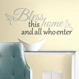 Tekst muurstickers - Bless this Home
