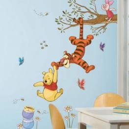 Winnie the Pooh muursticker In de boom