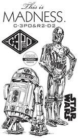 Star Wars muurstickers Droids XXL