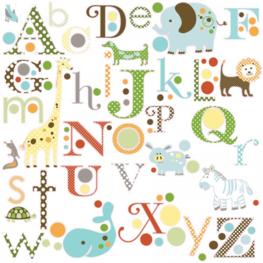 Dieren alfabet muurstickers