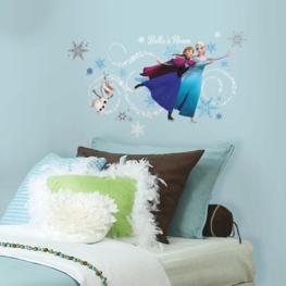 Frozen maxi muursticker Anna en Elsa met alfabet