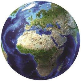 Wereldbol VLIES behang Aarde XL
