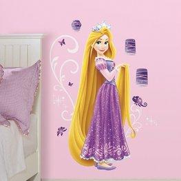 Rapunzel muursticker XL met Glitter