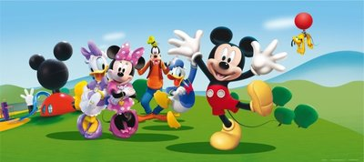 Baby Disney Behang.Mickey Mouse Disney Club Behang Poster H 202x90cm