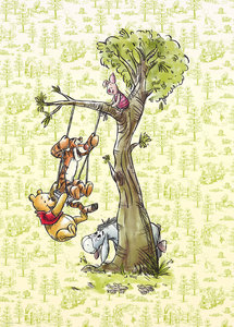 Winnie the Pooh behang In the Wood