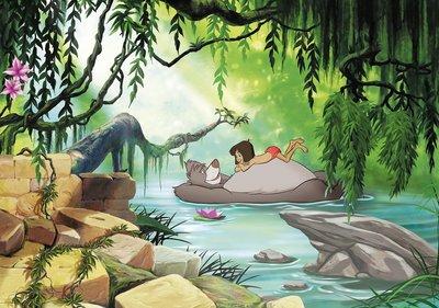 Jungle Book fotobehang Swimming
